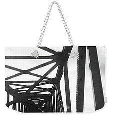 Weekender Tote Bag featuring the photograph Indefinite Sight Bw by Jamie Lynn