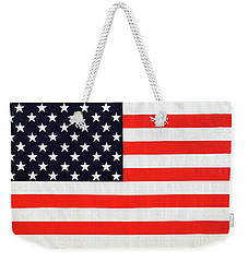 Pooling Independence Day Large Scale Oil On Canvas Original United States Flag Weekender Tote Bag