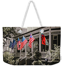 Weekender Tote Bag featuring the photograph Independence Day Southport Style by Phil Mancuso