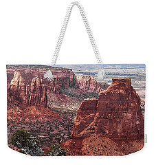 Independence Monument At Colorado National Monument Weekender Tote Bag