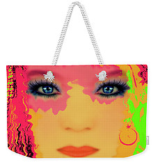 Weekender Tote Bag featuring the photograph Indian #193 by Barbara Tristan