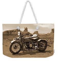 Indian 4 Sidecar Weekender Tote Bag