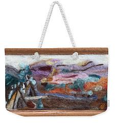 Indian Camp Weekender Tote Bag by Christine Lathrop