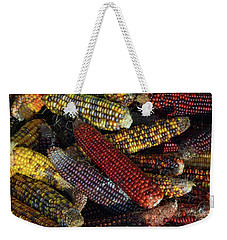 Weekender Tote Bag featuring the photograph Indian Corn by Joanne Coyle