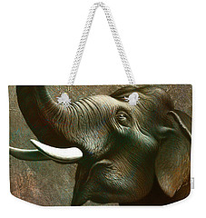Indian Elephant 2 Weekender Tote Bag by Jerry LoFaro