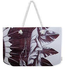 Indian Feathers Weekender Tote Bag by Michael  TMAD Finney