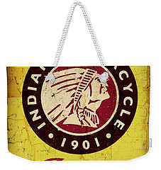 Indian Motorcycle Sign 1901 Weekender Tote Bag