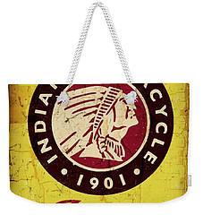 Indian Motorcycle Sign 1901 Weekender Tote Bag