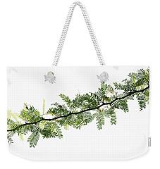 Indian Needle Bush Tree Leaves Weekender Tote Bag