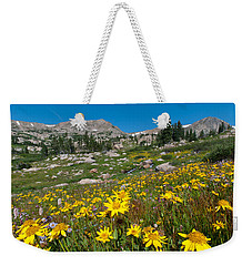 Weekender Tote Bag featuring the photograph Indian Peaks Summer Wildflowers by Cascade Colors