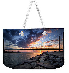 Indian River Inlet And Bay Sunset Weekender Tote Bag
