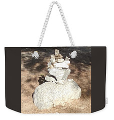 Weekender Tote Bag featuring the photograph Indian Rock Formation by Jay Milo