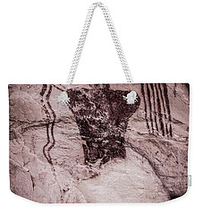 Indian Shaman Rock Art Weekender Tote Bag by Gary Whitton