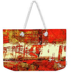 Indian Summer - Red Contemporary Abstract Weekender Tote Bag
