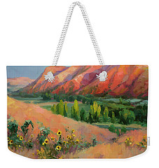Weekender Tote Bag featuring the painting Indian Hill by Steve Henderson