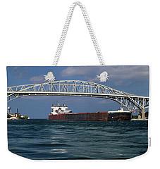 Indiana Harbor And Blue Water Bridge Weekender Tote Bag