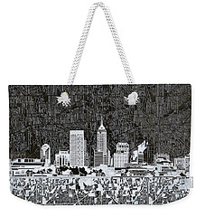 Indianapolis Skyline Abstract 10 Weekender Tote Bag by Bekim Art
