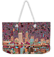 Indianapolis Skyline Abstract 4 Weekender Tote Bag by Bekim Art