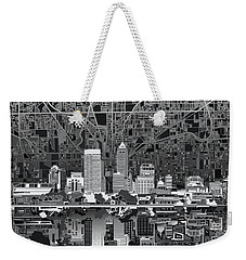 Indianapolis Skyline Abstract 5 Weekender Tote Bag by Bekim Art