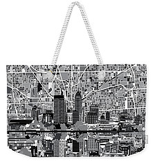 Indianapolis Skyline Abstract 6 Weekender Tote Bag by Bekim Art