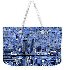 Indianapolis Skyline Abstract 7 Weekender Tote Bag by Bekim Art