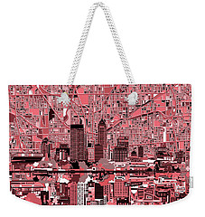 Indianapolis Skyline Abstract 8 Weekender Tote Bag by Bekim Art