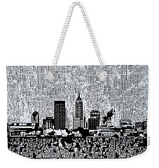 Indianapolis Skyline Abstract 9 Weekender Tote Bag by Bekim Art