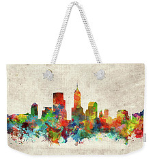 Indianapolis Skyline Watercolor 2 Weekender Tote Bag by Bekim Art