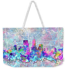 Indianapolis Skyline Watercolor 5 5 Weekender Tote Bag by Bekim Art