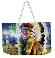 Weekender Tote Bag featuring the photograph Indians Invade Thailand. Cowboys Too by Mr Photojimsf