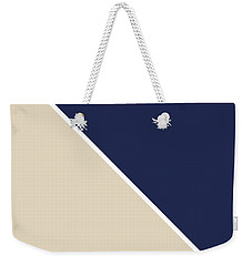 Indigo And Sand Geometric Weekender Tote Bag
