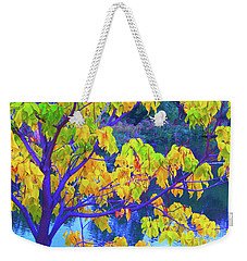 Indigo Autumn Weekender Tote Bag by Ann Johndro-Collins