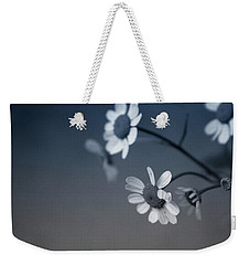 Indigo Daisies 2- Art By Linda Woods Weekender Tote Bag