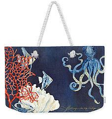 Indigo Ocean - Floating Octopus Weekender Tote Bag