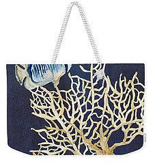 Indigo Ocean - Tan Fan Coral N Angelfish Weekender Tote Bag