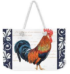 Indigo Rooster 1 Weekender Tote Bag by Debbie DeWitt