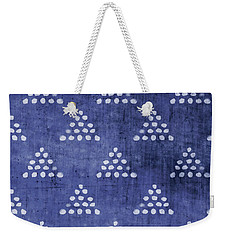 Indigo Triangles 2- Art By Linda Woods Weekender Tote Bag