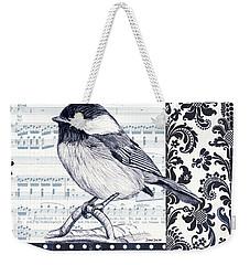 Indigo Vintage Songbird 2 Weekender Tote Bag by Debbie DeWitt
