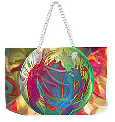 Weekender Tote Bag featuring the painting Indigofera Tinctorbia by Robin Moline