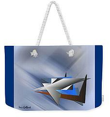 Weekender Tote Bag featuring the digital art Industrial by Iris Gelbart