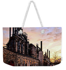 Weekender Tote Bag featuring the photograph Industrial Landmark by DJ Florek
