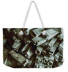 Industrial Letterpress Typeset  Weekender Tote Bag