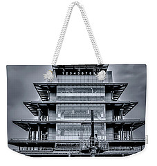 Indy 500 Pagoda - Black And White Weekender Tote Bag