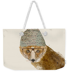 Weekender Tote Bag featuring the painting Indy Fox by Bri B