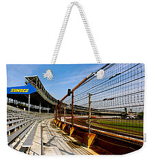 Weekender Tote Bag featuring the photograph Indy  Indianapolis Motor Speedway by Iconic Images Art Gallery David Pucciarelli
