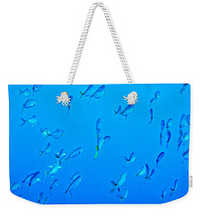 Weekender Tote Bag featuring the photograph Infinite Blue by Perla Copernik