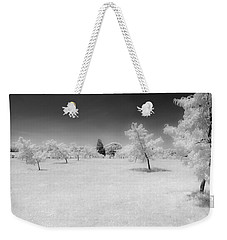 Infrared Peach Orchard Weekender Tote Bag