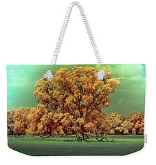 Infrared Surreal Tree Canopy Weekender Tote Bag by Louis Ferreira