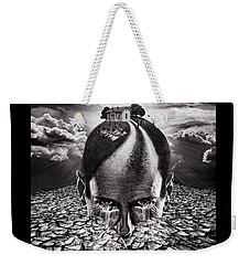 Inhabited Head Gray Scale Weekender Tote Bag