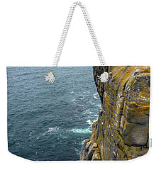Weekender Tote Bag featuring the photograph Inishmore Cliff And Dun Aengus  by RicardMN Photography